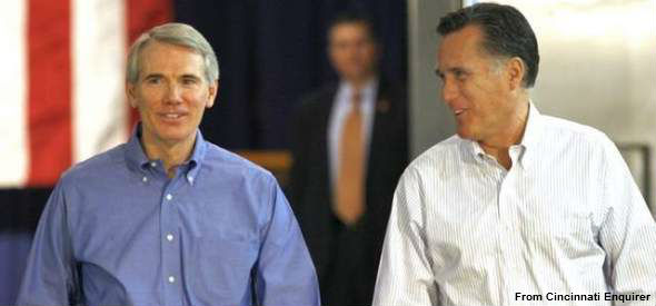 Rob Portman and Mitt Romney