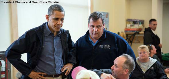 Gov. Chris Christie and Obama