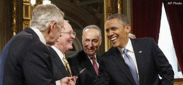Obama Reid Schumer Alexander