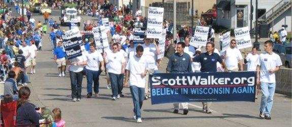 Scott Walker parade