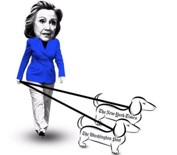 Hillary and the lapdogs