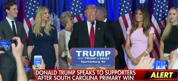 Trump wins South Carolina
