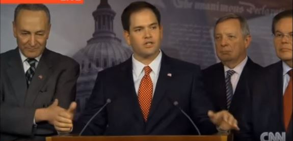 Rubio with Gang of Eight Democrats