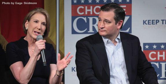 Carly Fiorina Ted Cruz