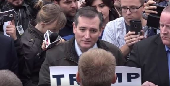 Ted Cruz and Trump supporter