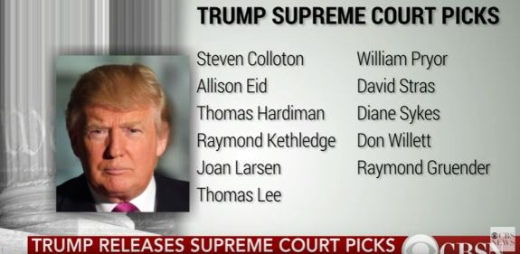 Trump Supreme Court picks