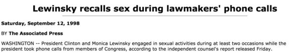 Lewinsky scandal