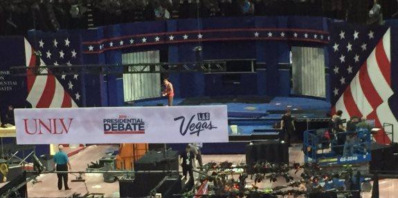 Las Vegas debate stage