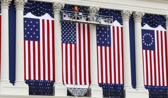 Inauguration flags