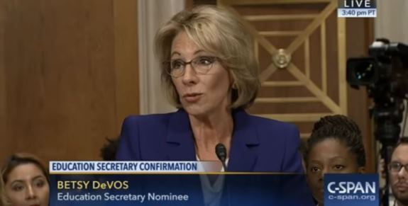 DeVos confirmation squeaks through Senate