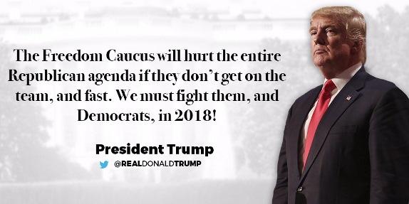 Trump Freedom Caucus tweet