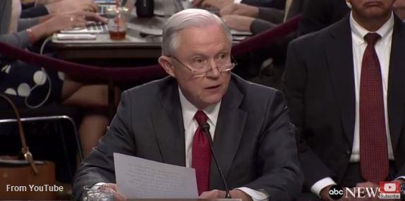 Jeff Sessions testimony