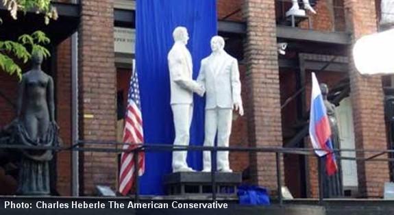 Reagan Gorbachev statue