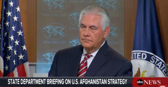 Tillerson on Afghanistan