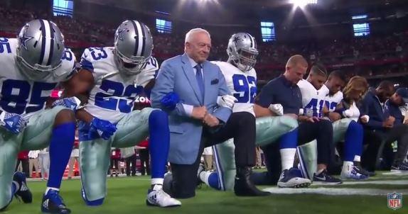 Cowboys kneel
