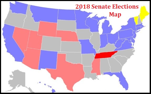 We Need More Conservatives Running For The US Senate - Senate map us