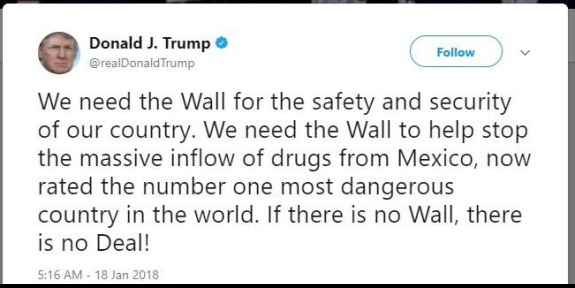 Trump tweet wall
