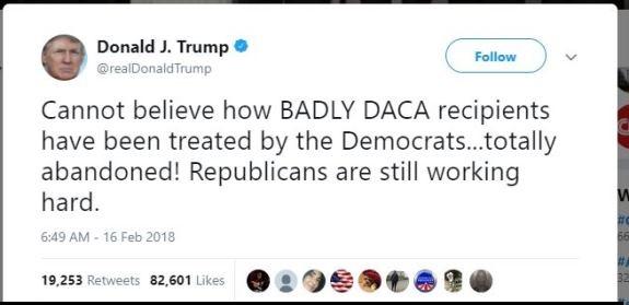Trump DACA tweet