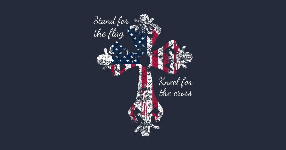 Stand for flag kneel for Cross