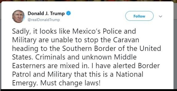 Trump tweet military