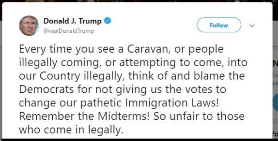 Trump tweet caravan