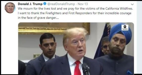 Trump on Fires