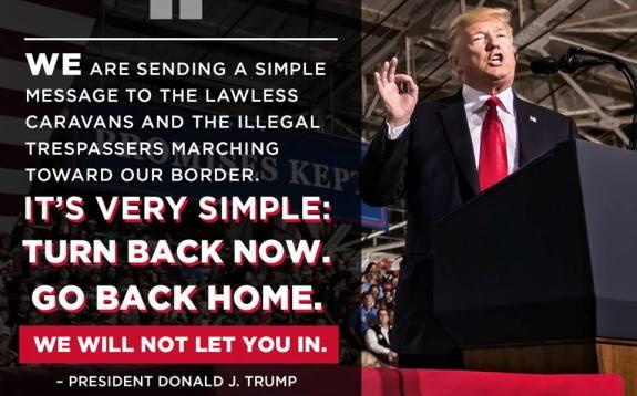 Trump and Caravan