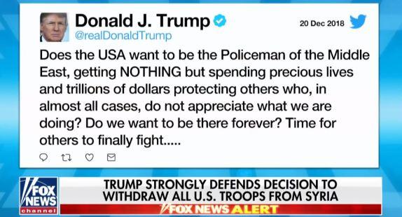 Trump Defends Syria Decision