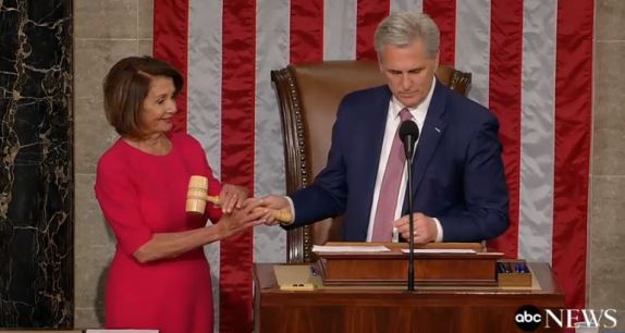 Pelosi and gavel