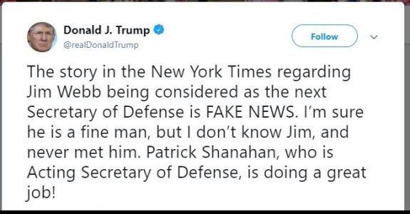 Trump on Jim Webb