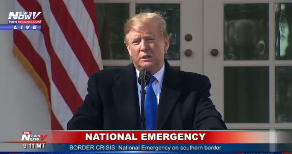 Trump declares national emergency
