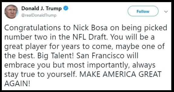 Trump Tweet Bosa