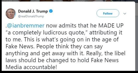 Trump tweet Ian Bremmer