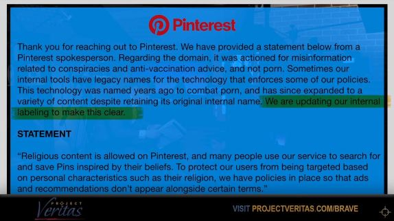 Project Veritas Pinterest
