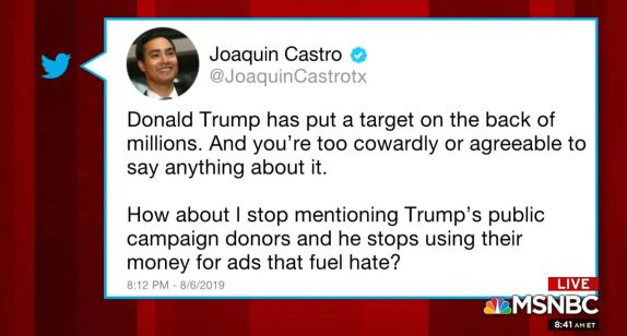 Joaquin Castro Tweet