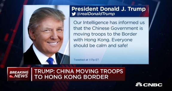 Trump on Hong Kong