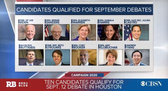 Dem Debate lineup