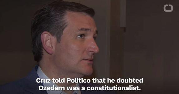 Cruz Opposes Ozerden