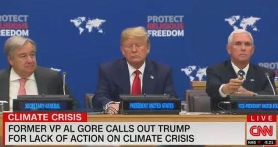 Trump face of climate denial