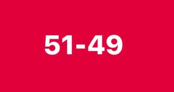 51 to 49