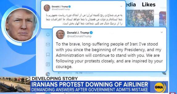 Trump Iranian Protests