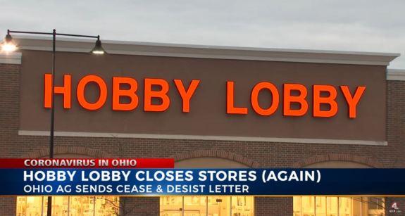 Hobby Lobby Closed