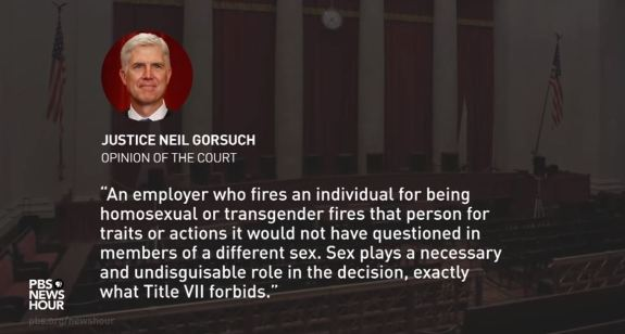 Justice Gorsuch Title VII