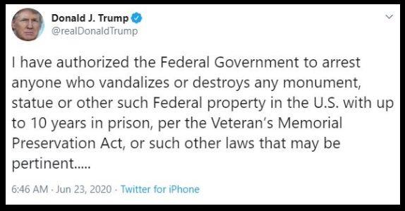 Trump Tweet Vandalism