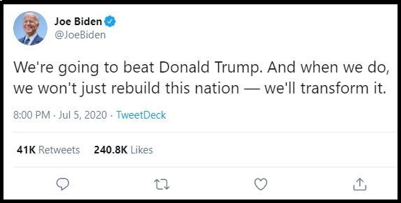 Joe Biden tweet