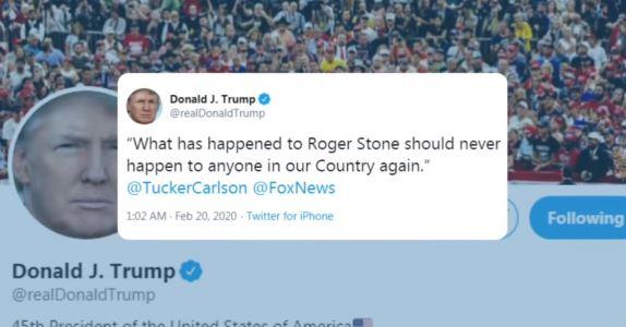 Trump Tweet Stone