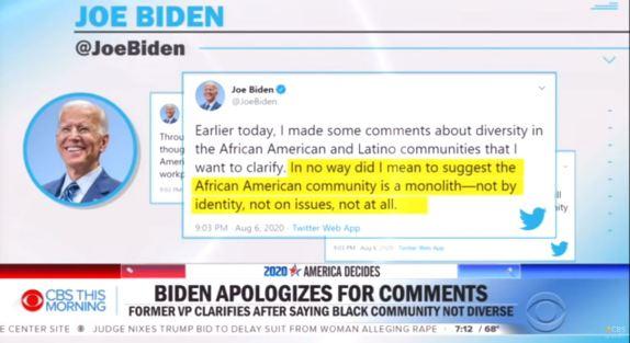 Biden apologizes