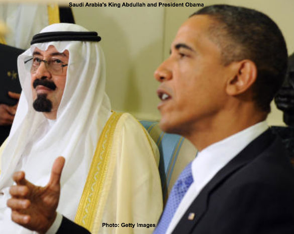 King Abdullah and Barack Obama