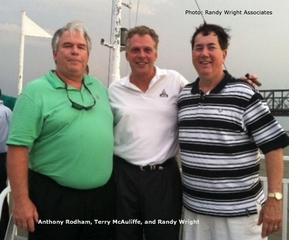 Anthony Rodham and Terry McAuliffe