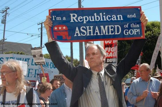 ashamed of GOP